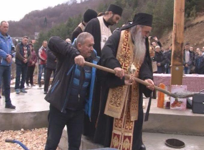 Osveštan temelj novog hrama u Brzeću