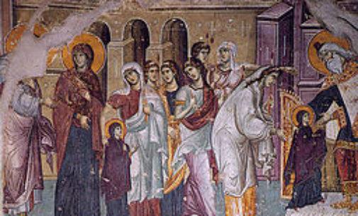 Danas proslavljamo  Vavedenje Presvete Bogorodice