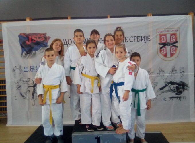 Plasman bruskih džudista na prvenstvo Srbije u Beogradu