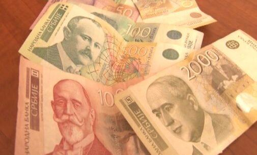 Prosečna neto plata u Srbiji za januar 2021. godine iznosila je 63.109 dinara