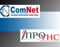 Saopštenja ComNeta i PROUNS-a