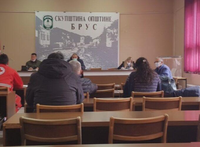 Sa sednice Opštinskog štaba za vanredne situacije u Brusu