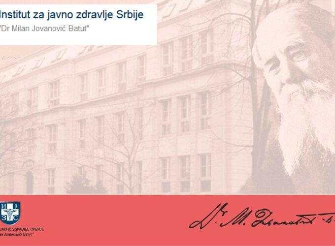 """Nove instrukcije Instituta za javno zdravlje """"Milan Jovanović Batut"""""""