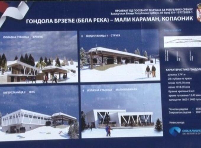 Najavljeno zvanično puštanje u rad gondole Brzeće-Mali Karaman