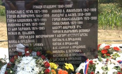 U Razbojni otkriven spomenik borcima stradalim u ratovima od 1912. do 1999.